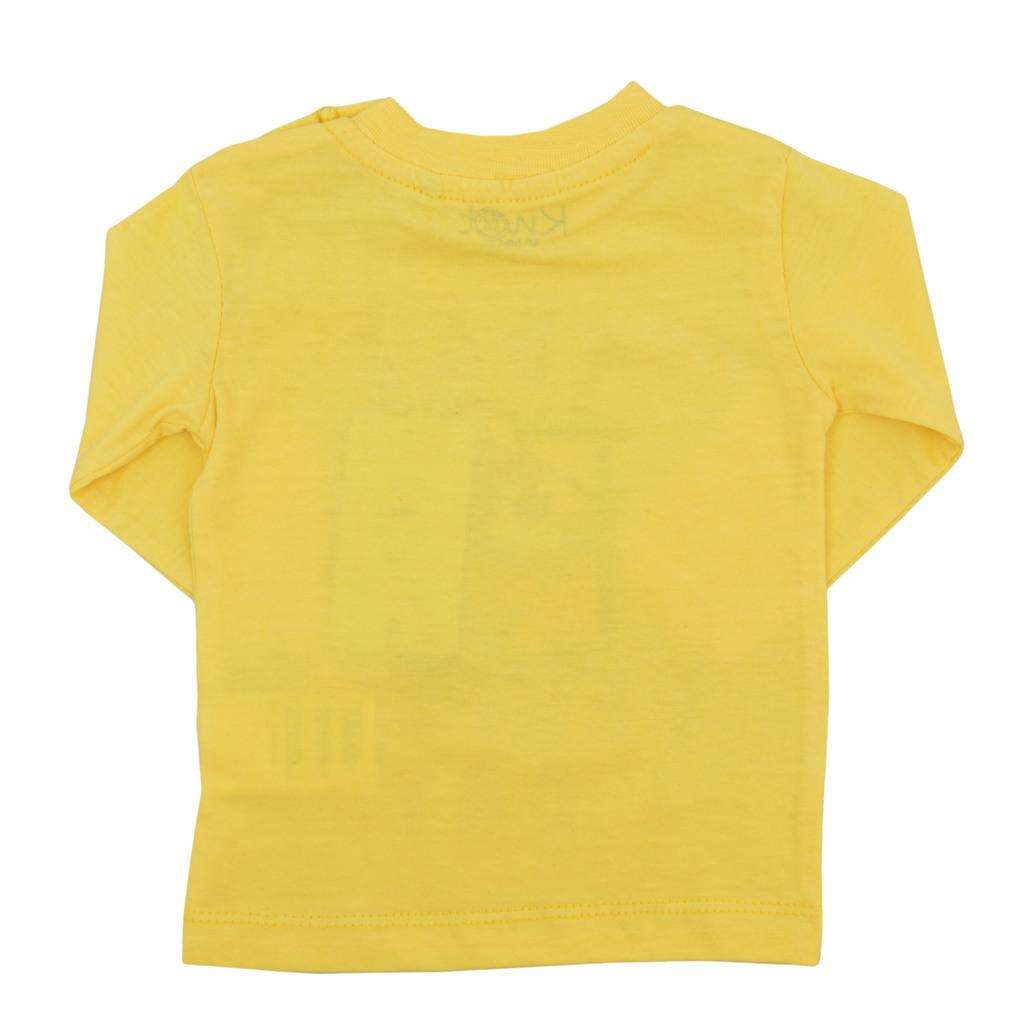 Блуза дълъг ръкав с емотикон жълта