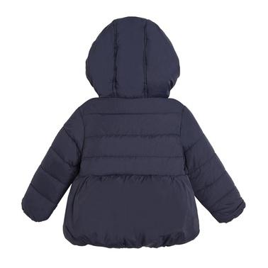 Бебешко яке Newness с кадифена подплата и панделка тъмно синьо