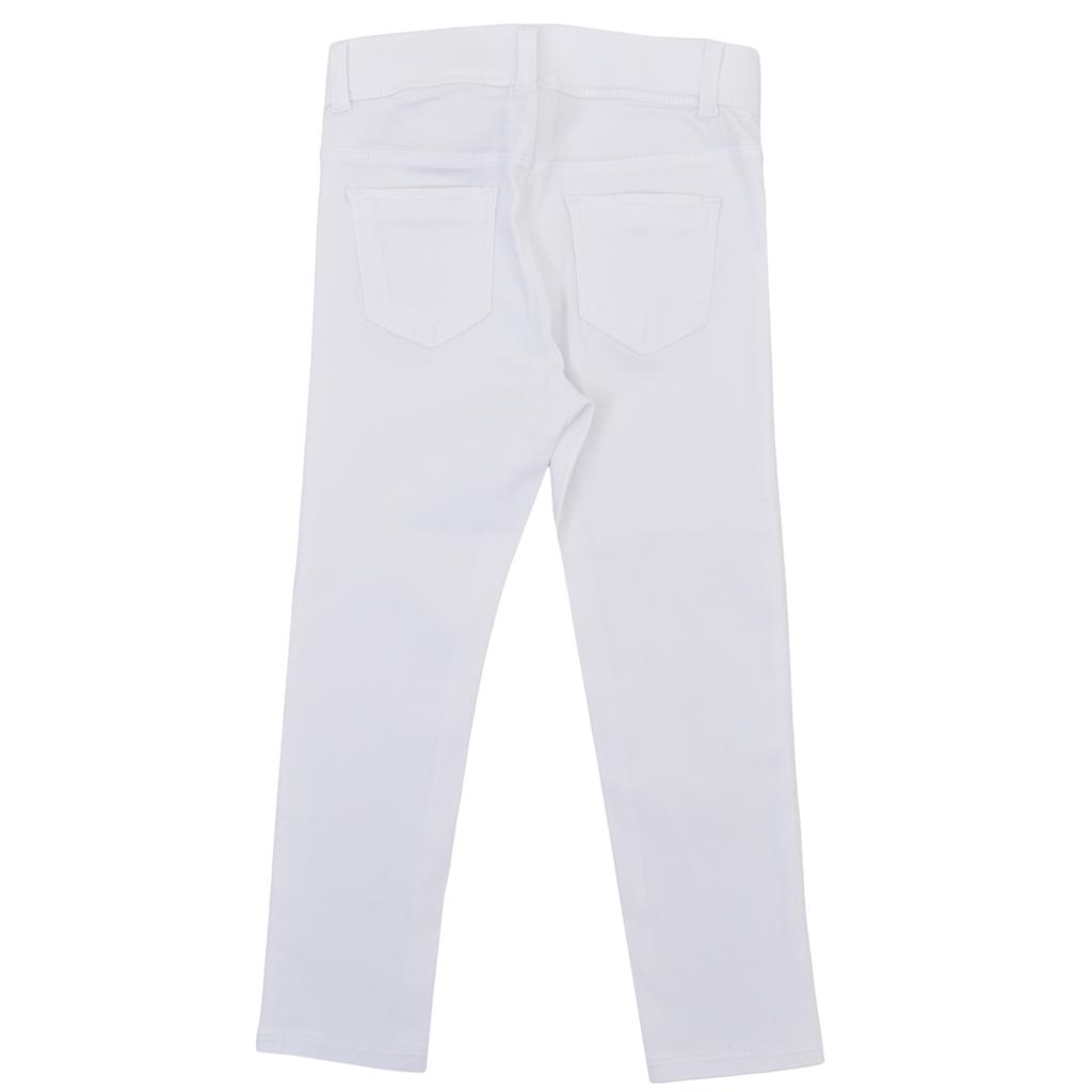 Панталон-клин Newness с джобчета бял