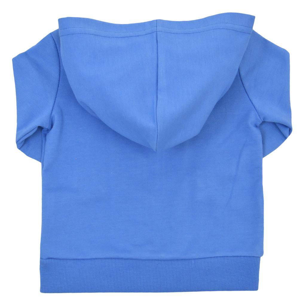 Комплект от 3 части с тениска, долнище и суитшърт син