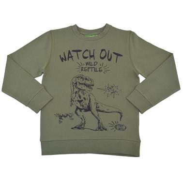 Памучна спортна блуза с T-Rex каки