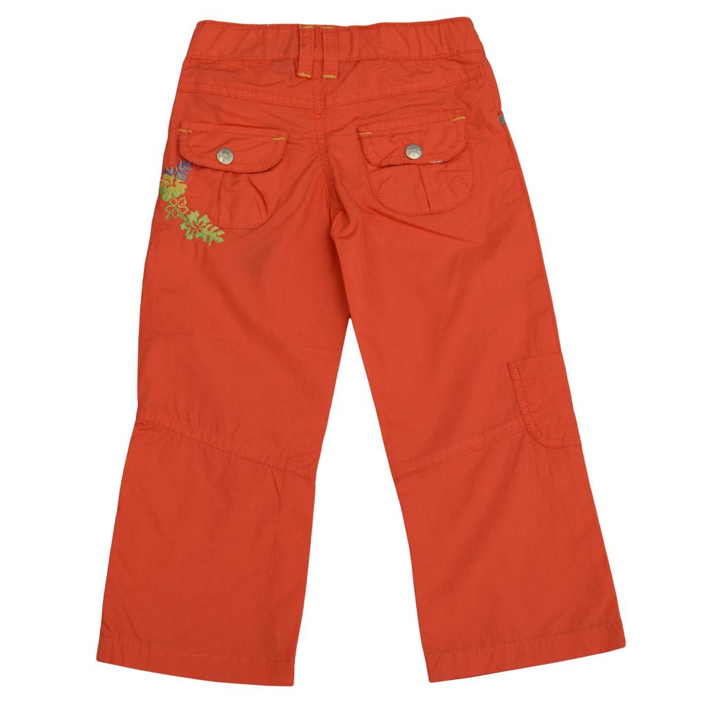 Летен панталон с бродерия корал