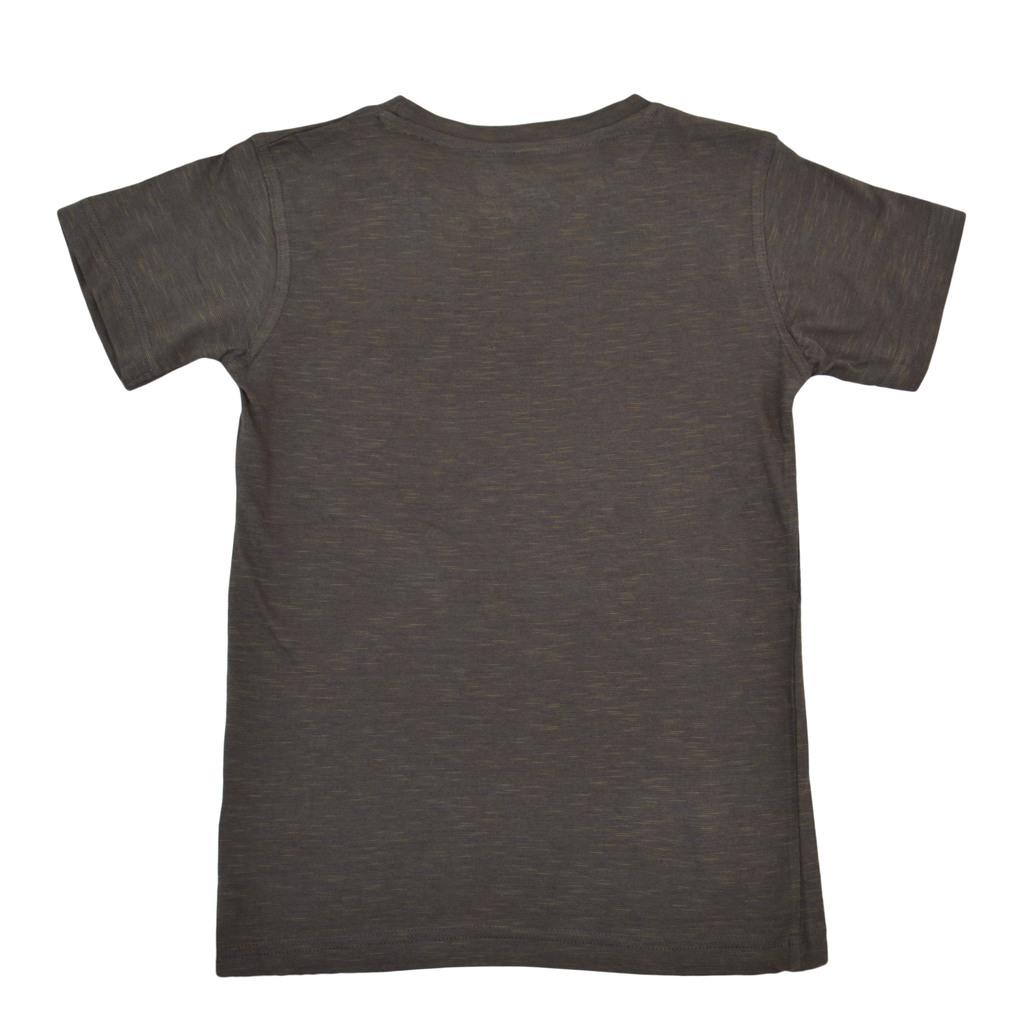"""Тениска в меланж с надпис """"Paintball"""" цвят каки"""
