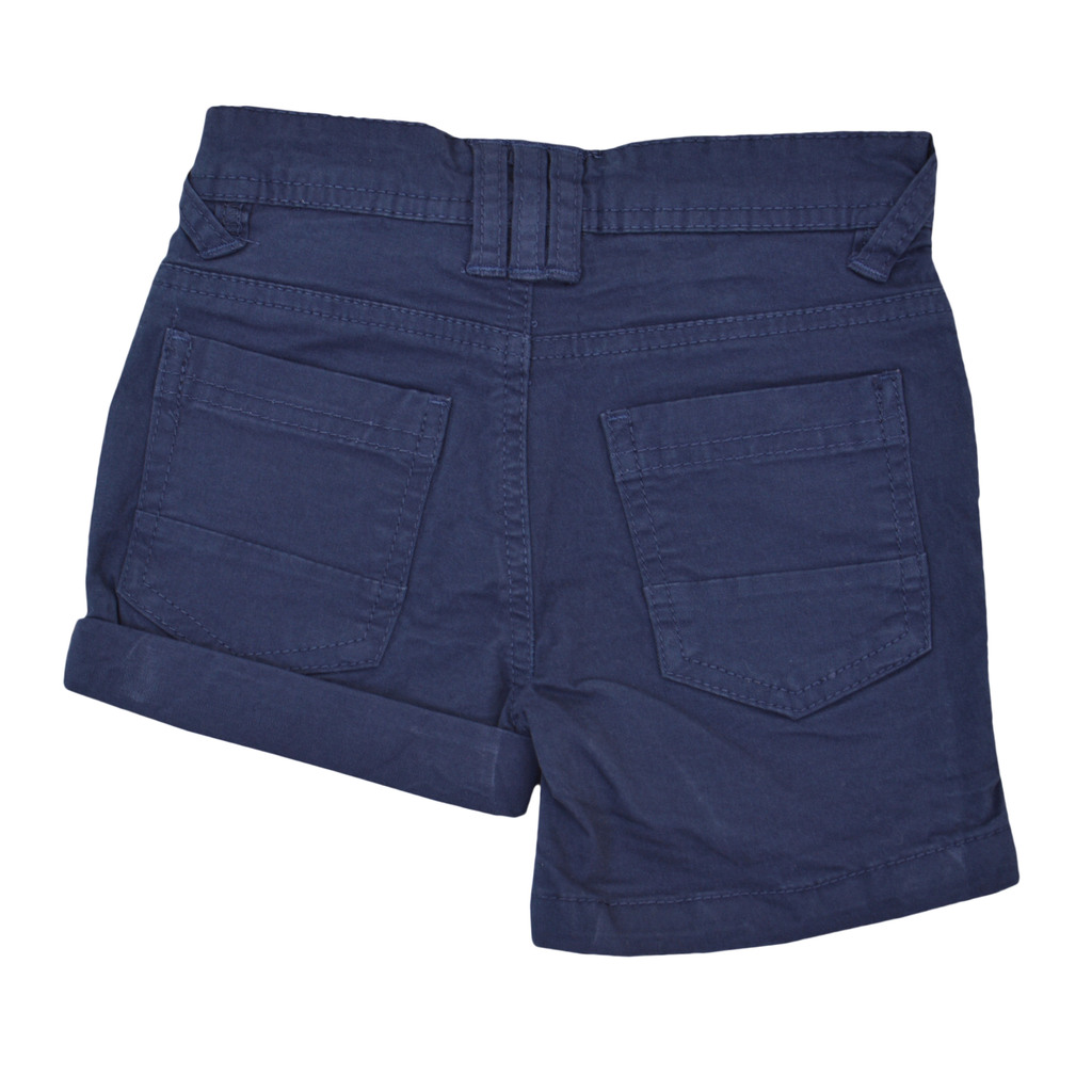 Панталон с къс крачол 2 в 1 класически модел тъмно син