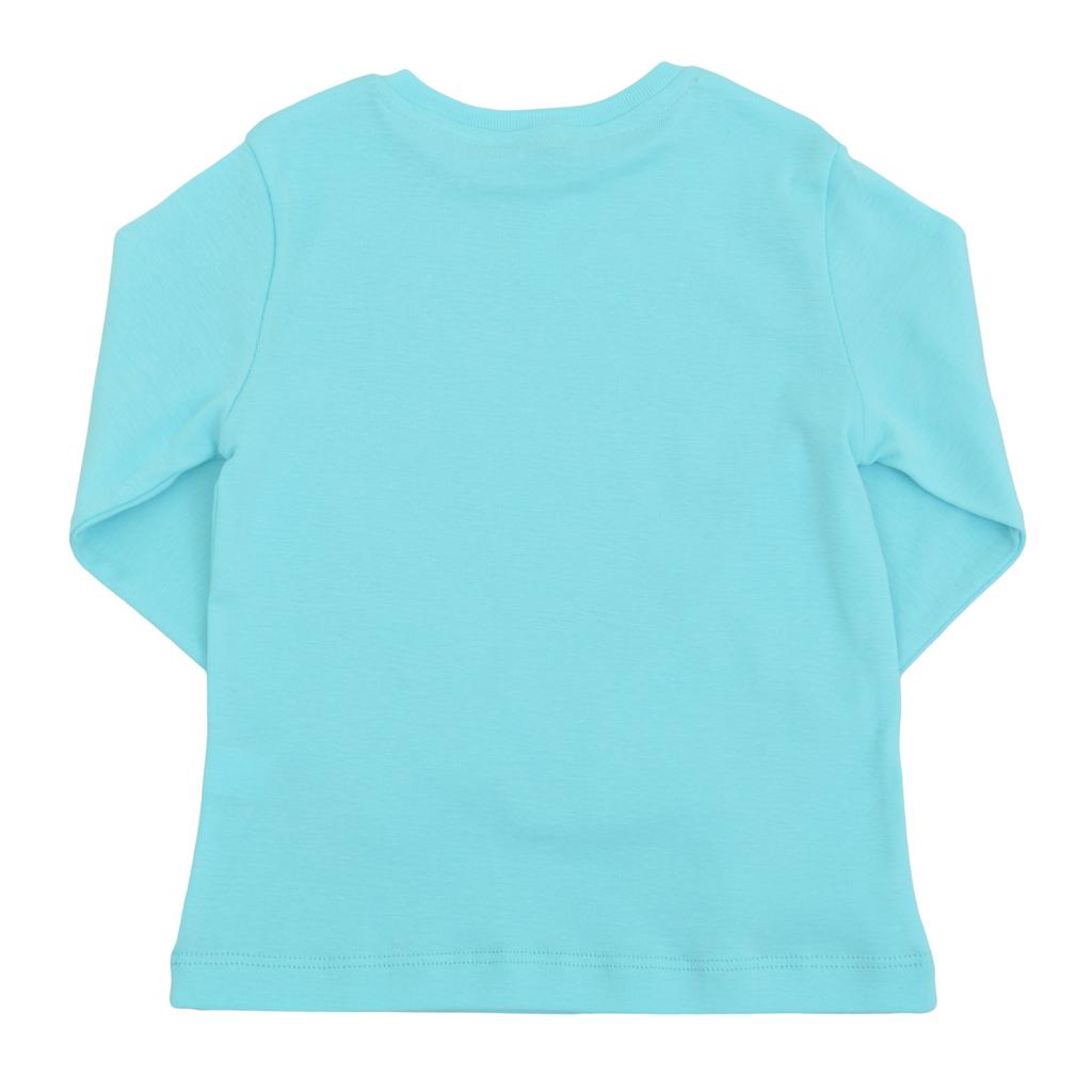 Детска рипсена блуза с лого ТОЧИЦИ електрик