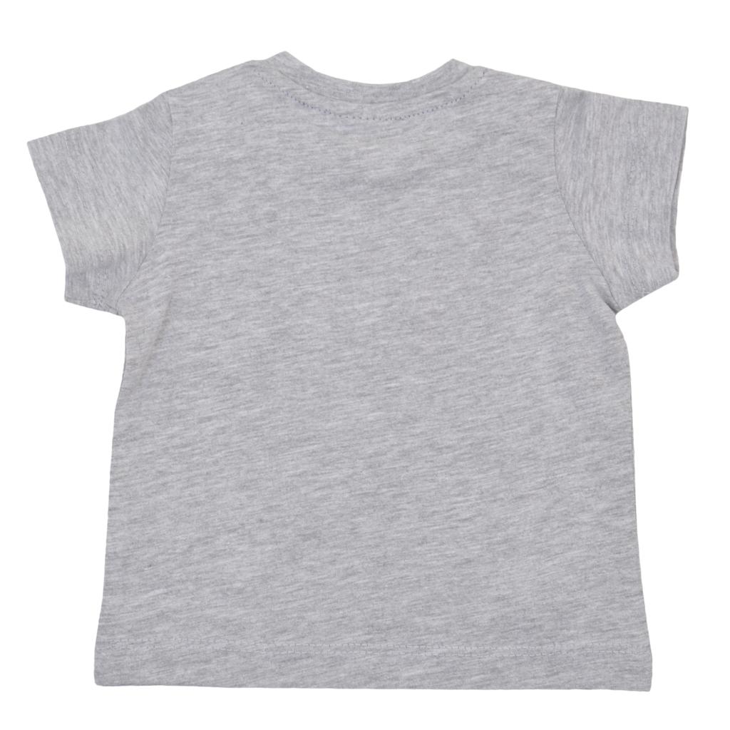 Блуза Newness с къс ръкав и раирана кръпка сива