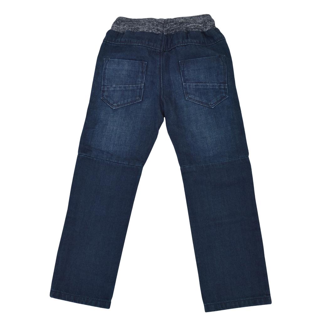 Спортни дънки с права кройка и ластик на талията деним