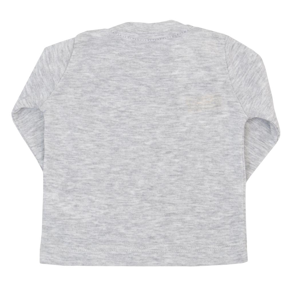 Бебешка пролета блуза с щампа бяла