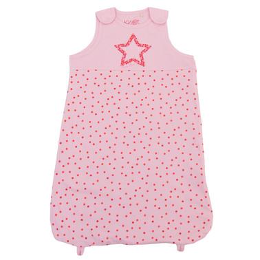 Чувалче за сън на точки със звездичка бледо розово