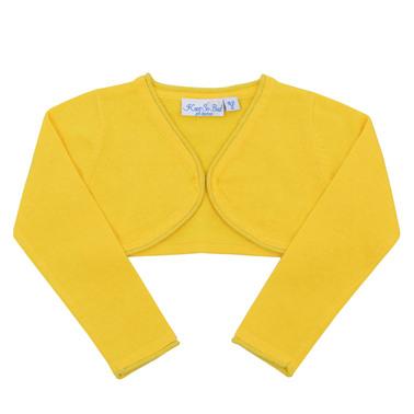 Болеро  дълъг ръкав с ламе и  скрито закопчаване жълто