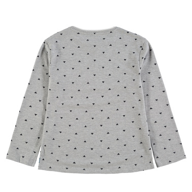 Блуза дълъг ръкав на триъгълници Tom Tailor сив меланж