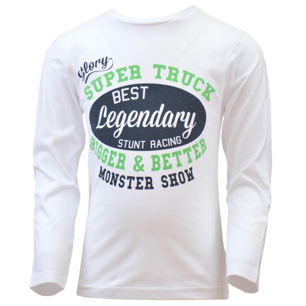 Блуза ''Monster show'' от фин трикотаж с дълъг ръкав бяла