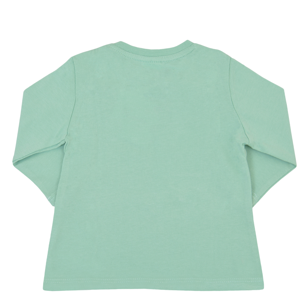 Блузка с пъстра горска картинка от Newness зелена
