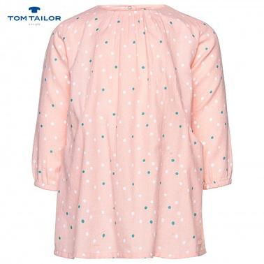 Бебешка рокля на точки в розово Tom Tailor