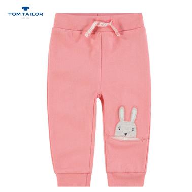 Ватирано долнище Tom Tailor с джоб на крачола розово