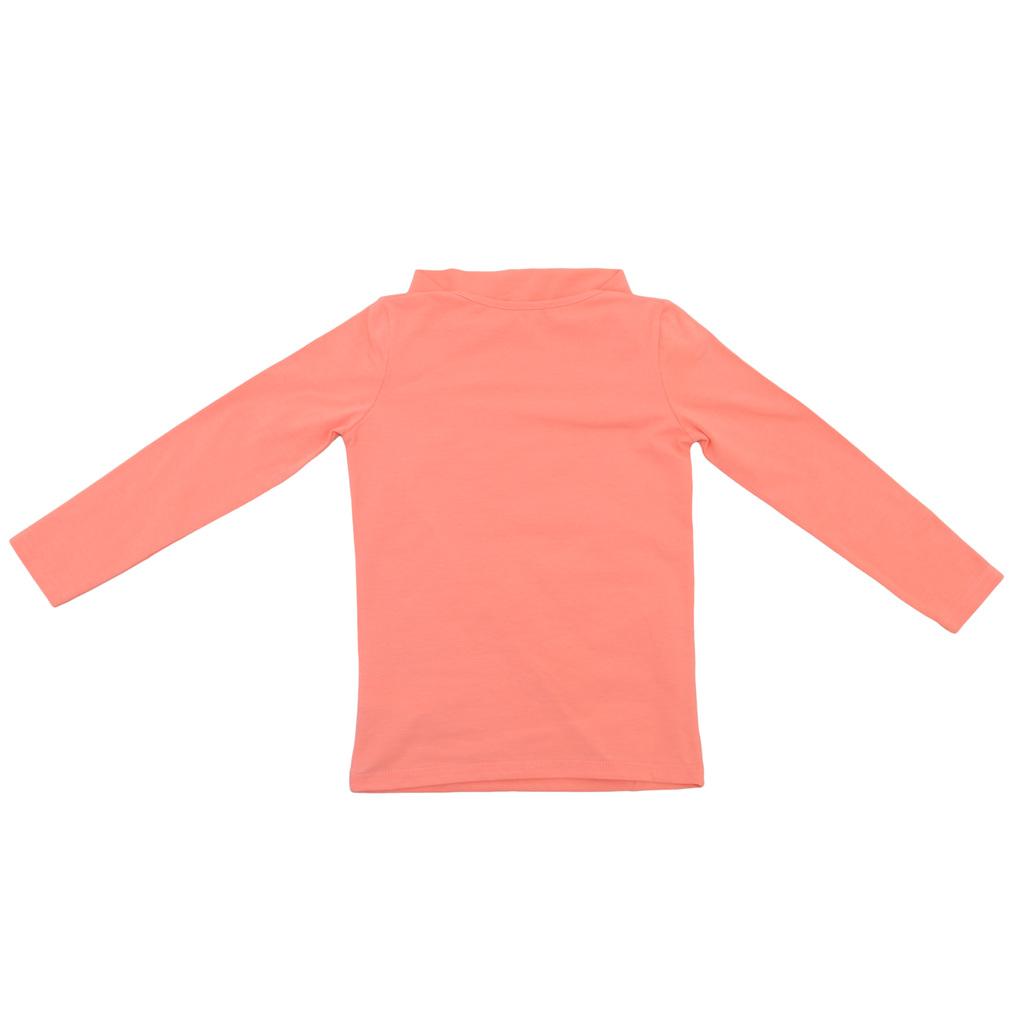 Модерна блуза с ефектен дизайн праскова