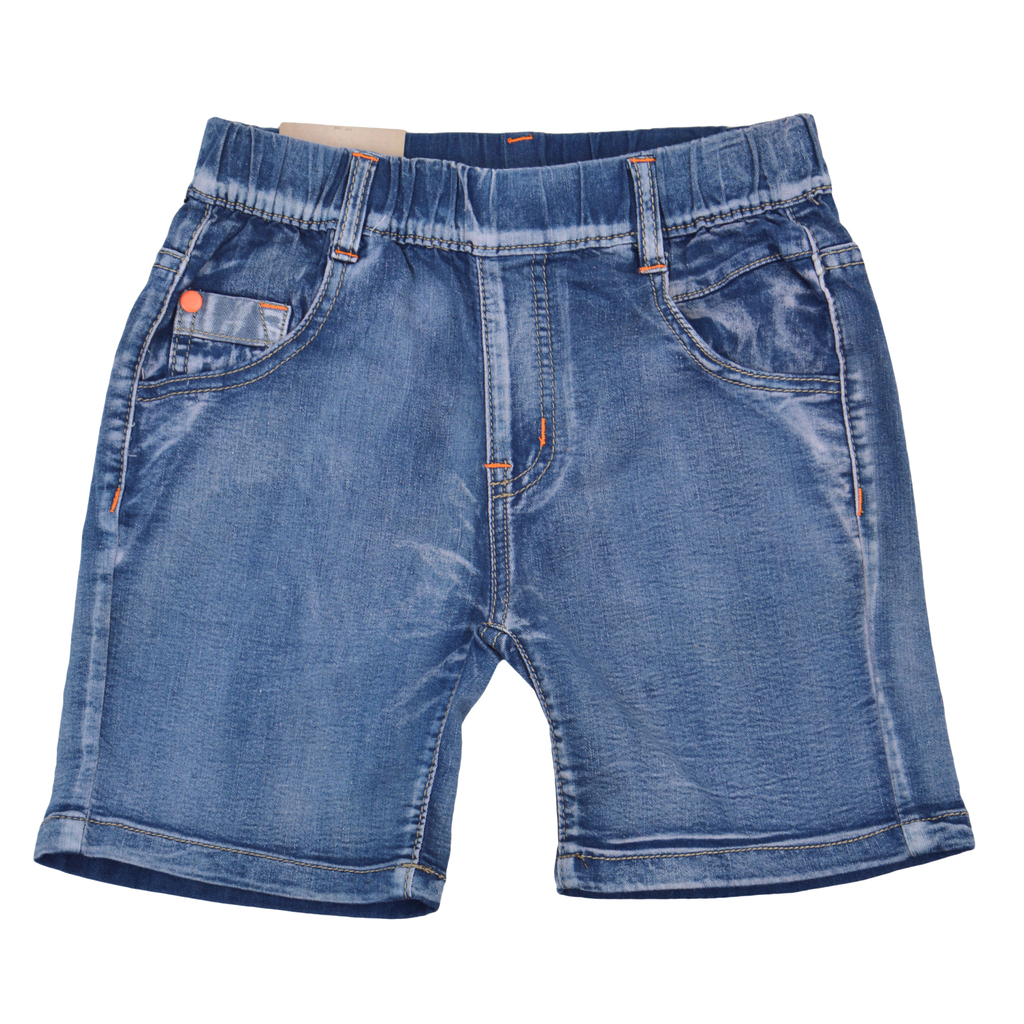 Детски къси панталони с ластик оранжеви