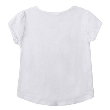 Блуза с къс ръкав и русалка от Newness в бяло