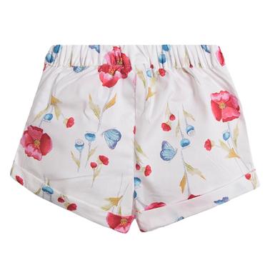 Кокетни къси панталонки с панделка от Newness в бяло