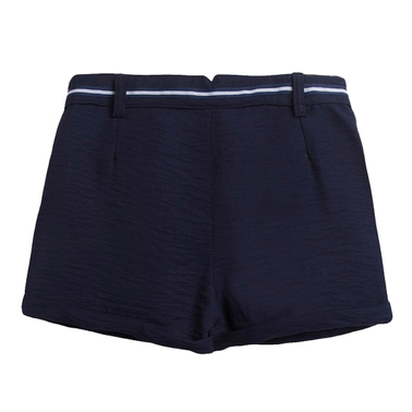 Елегантни къси панталонки с коланче от Newness в тъмно синьо