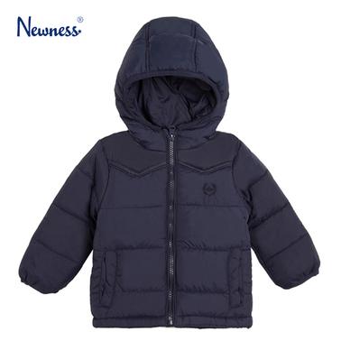 Яке с качулка и платки от Newness тъмно синьо