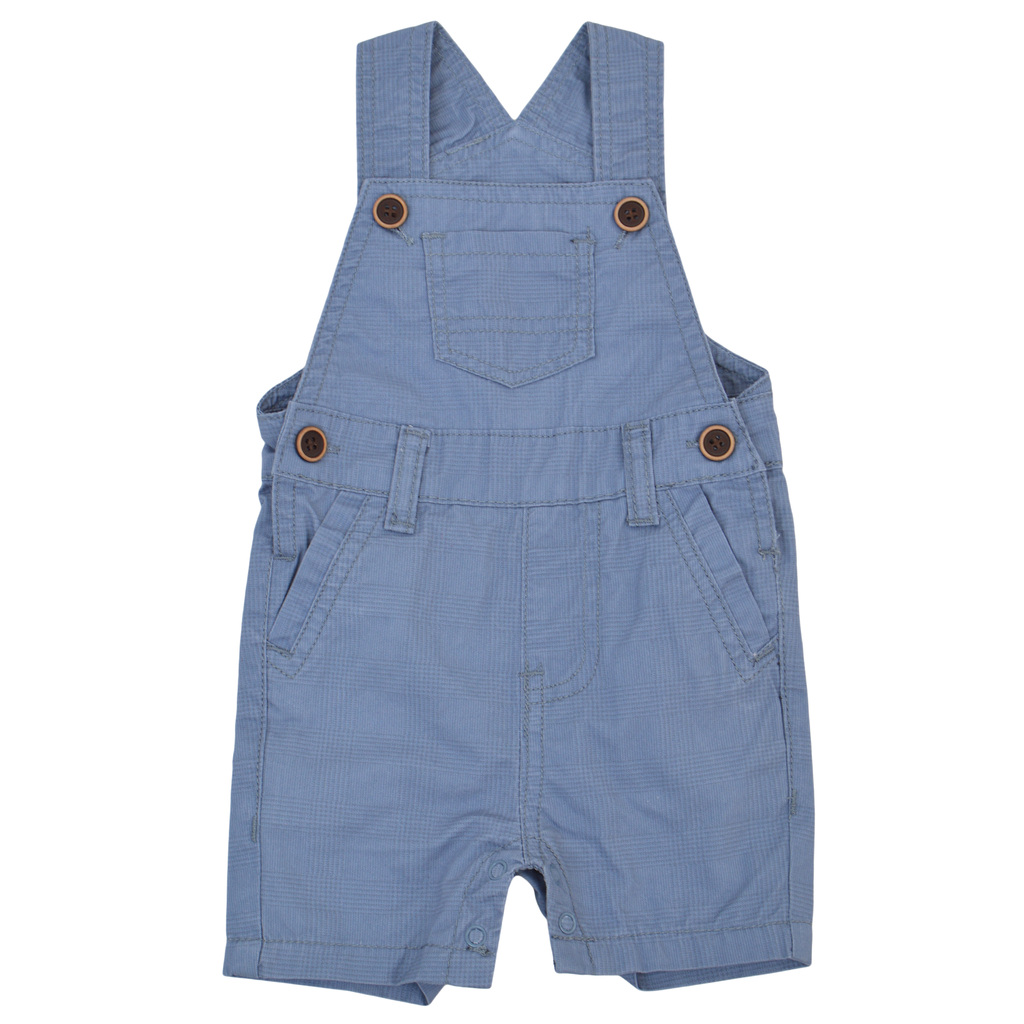 Бебешки гащеризон с джоб в каре син