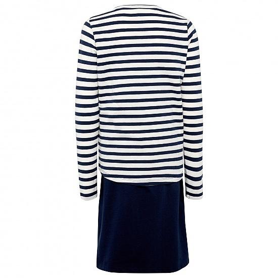 Комплект от две части-рокля и блуза тъмно син Tom Tailor