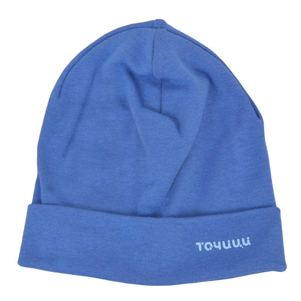 Трикотажна памучна шапка с лого ''Точици''  деним