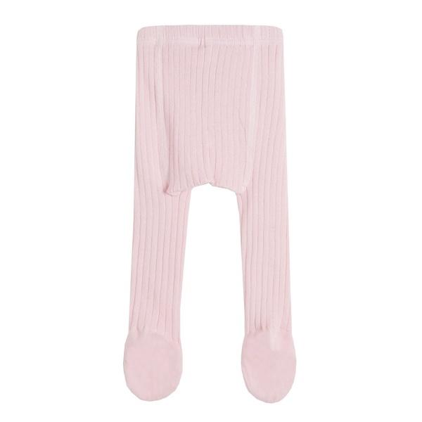 Рипсен чорапогащник Newness със стъпало бледо розов