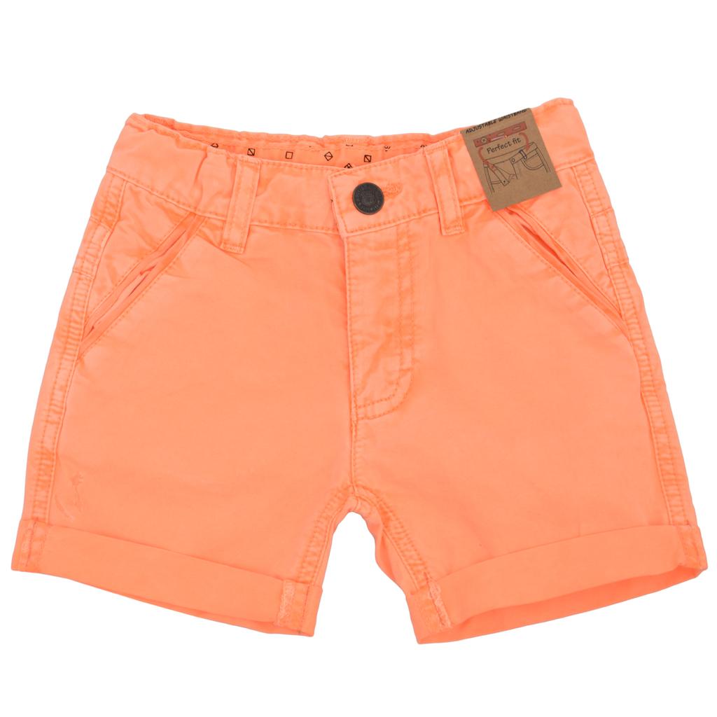 Детски къси пнталони в ярък цвят оранжеви