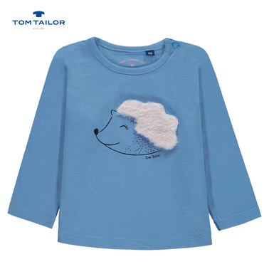 Блуза Tom Tailor с дълъг ръкав и таралежче синя