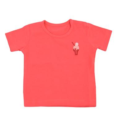 Тениска с бродиран сладолед и копчета диня