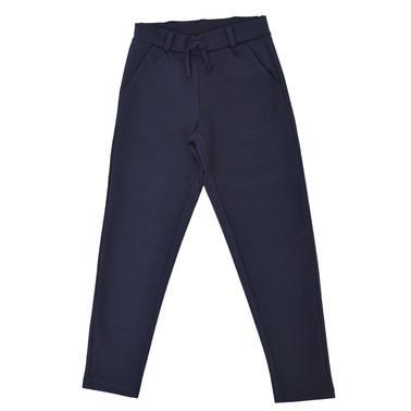 Трикотажен панталон с италиански джоб и връзка тъмно син