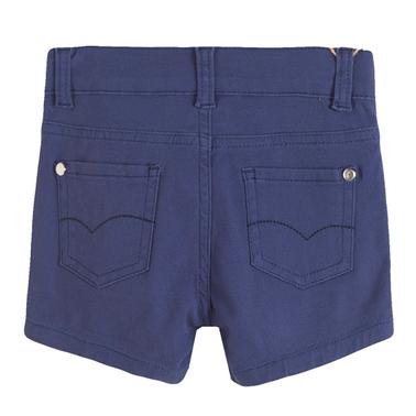 Дънкови къси панталонки с бродирана детелина от Newness в тъмно синьо