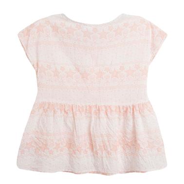 Блуза с морски звезди и панделки от Newness розова