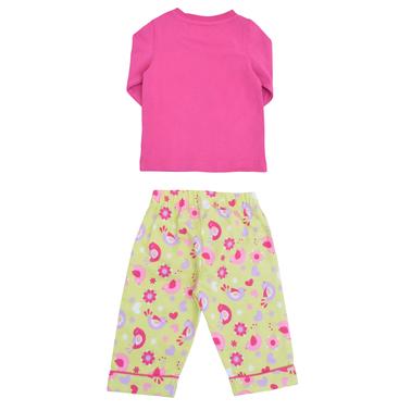Бебешка зимна пижама с бархетно долнище цикламена