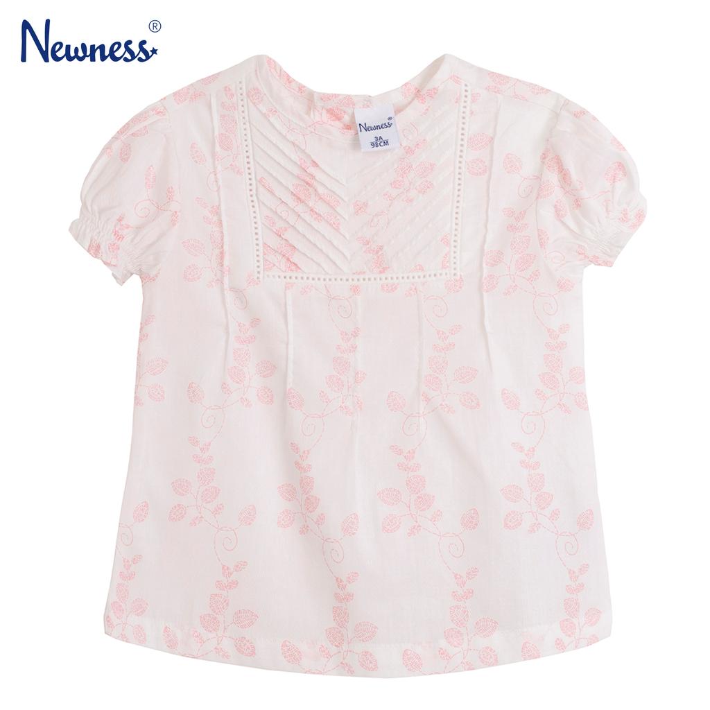 Елегантна блуза с къс ръкав и нервюри розова