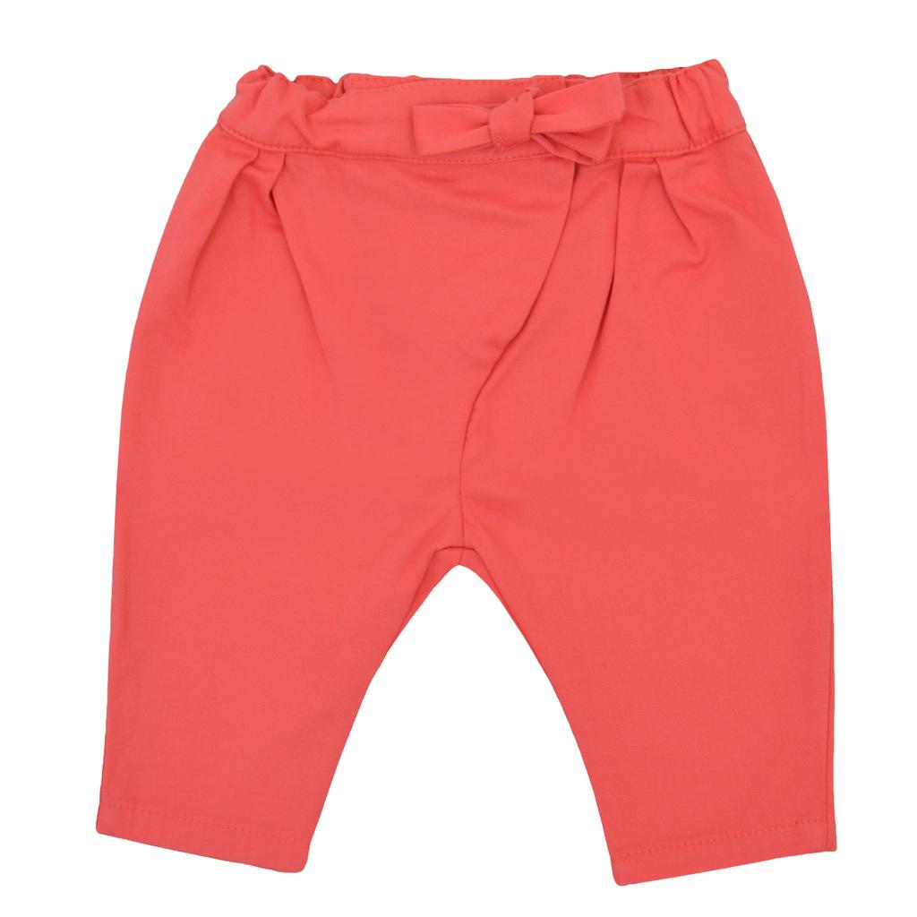 Елегантен комплект с блузка и панталон с прехлупване корал