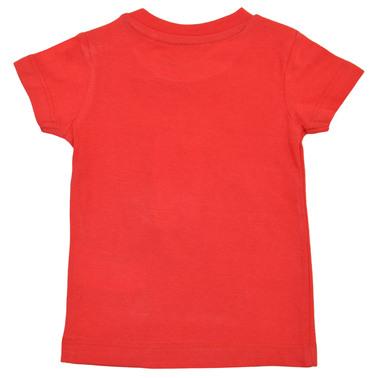 Тениска с морски щампи и надписи червена