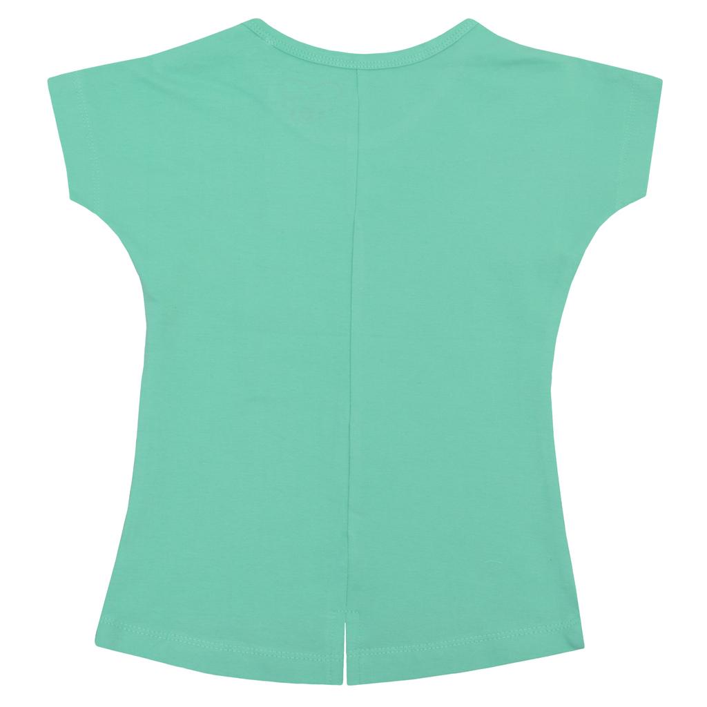 Детска блуза с щампа с токани зелена