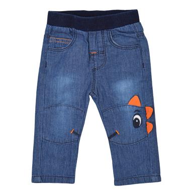 Дънки с Дино на коляното и избелен ефект оранжеви