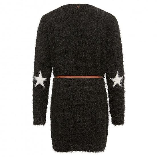 Топла жилетка с коланче за момичета Tom Tailor черна
