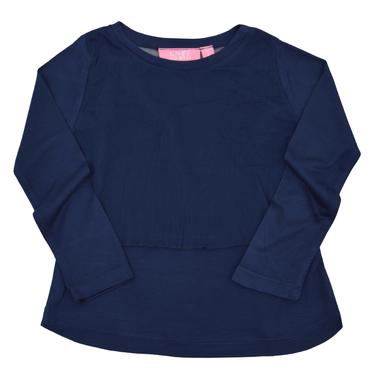 Детска блуза с мрежа тъмно синя