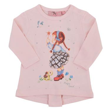 Бебешка туника с момиченце с магичека пръчка розова