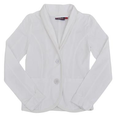 Право сако с джобове бяло