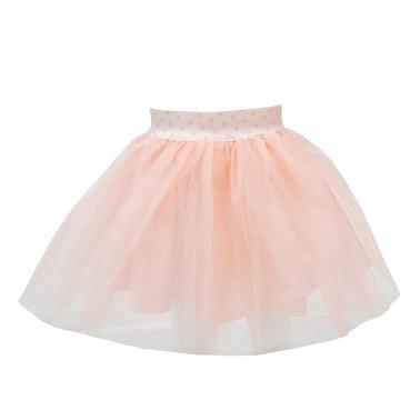 Детска  пола ту-ту с тюл и ластик розова