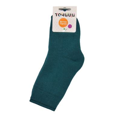Топли термо чорапи с висок конч зелени