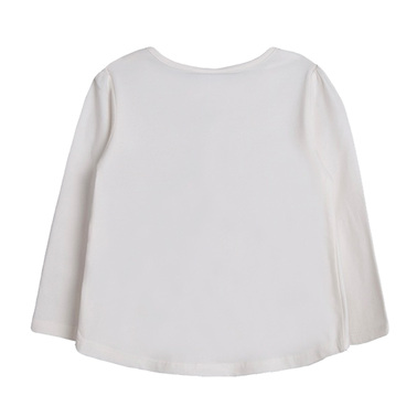 Блуза Newness с щамповани момичета бяла