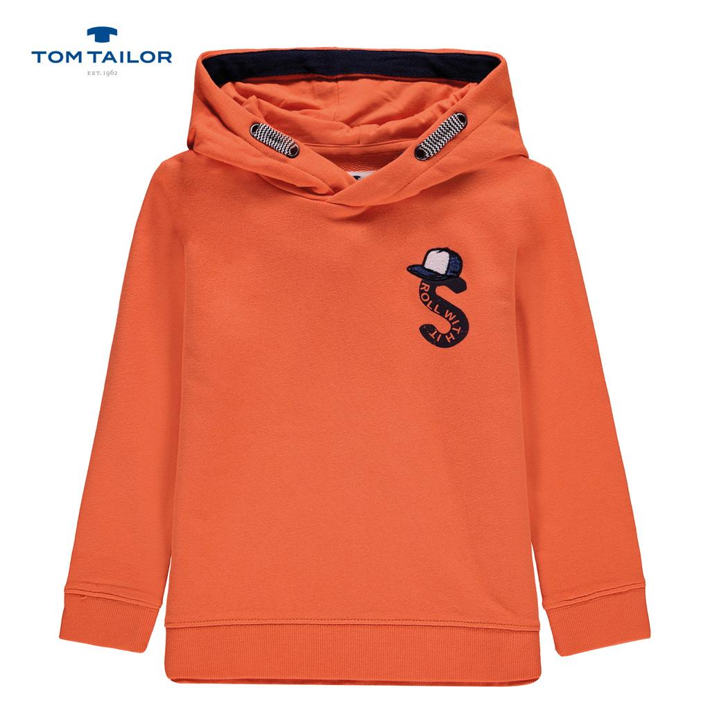Спортна блуза с качулка Tom Tailor оранжева