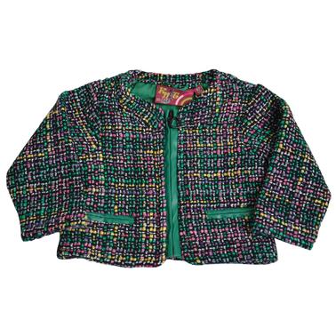 Цветно сако с цип зелено